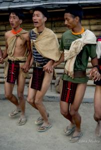 Naga Warrior Tribal Dance, Nagaland, India