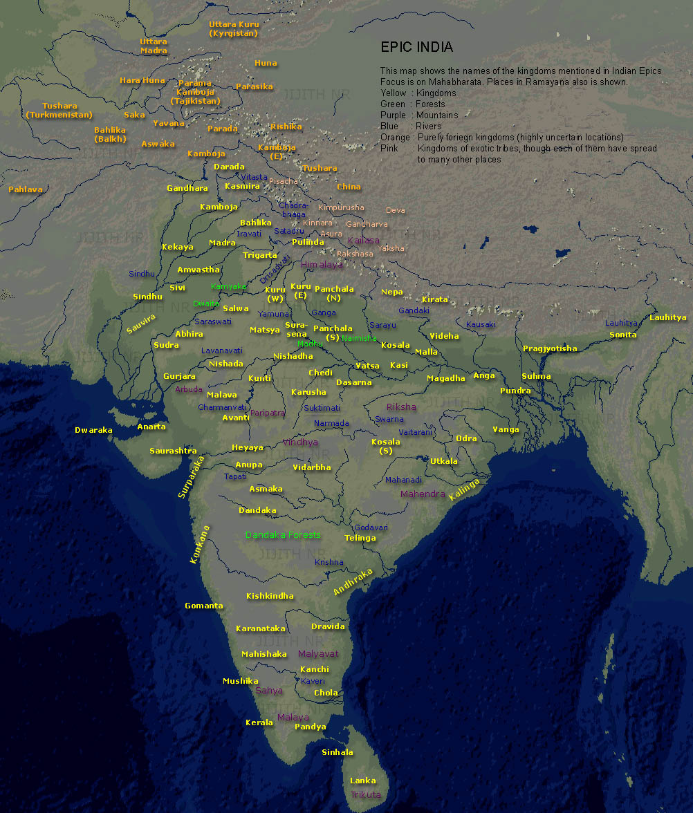 Bharat varsha ancient indian kingdoms the art blog by wovensouls percent of indians who have a masters degree has proven to be highly insufficient since i had no idea that the map of ancient india looked like this gumiabroncs Choice Image