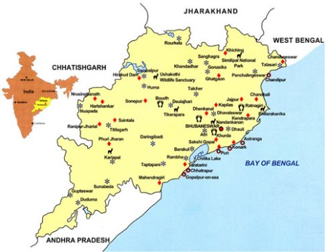 orissa-tourist-map