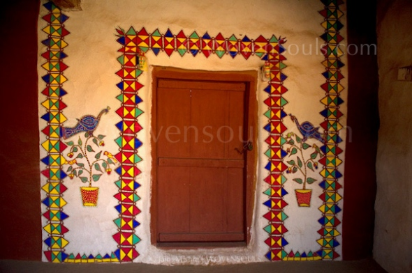 Wall Art Of Rural Rajasthan The Art Blog By Wovensouls Com
