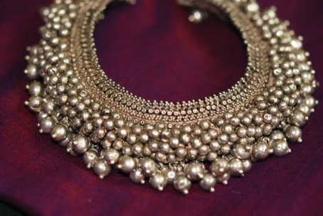 antique silver payal