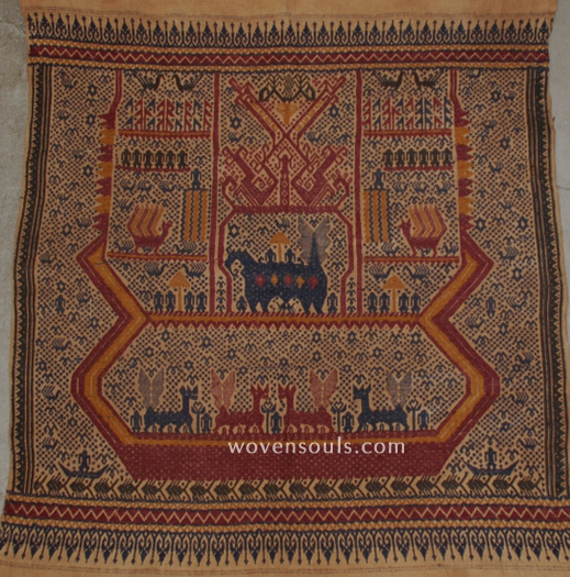 ANTIQUE TAMPAN LAMPUNG INDONESIA SHIP CLOTH