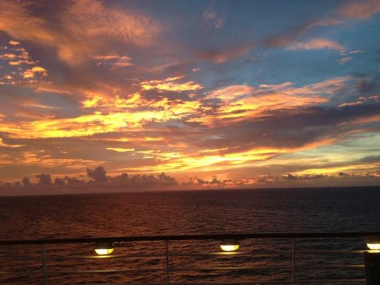 The breathtaking Blue & Gold sunset