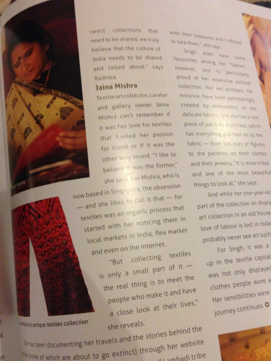 ARTICLE IN THE LEELA MAGZINE ON JAINA MISHRA, SPRING 2015 ISSUE