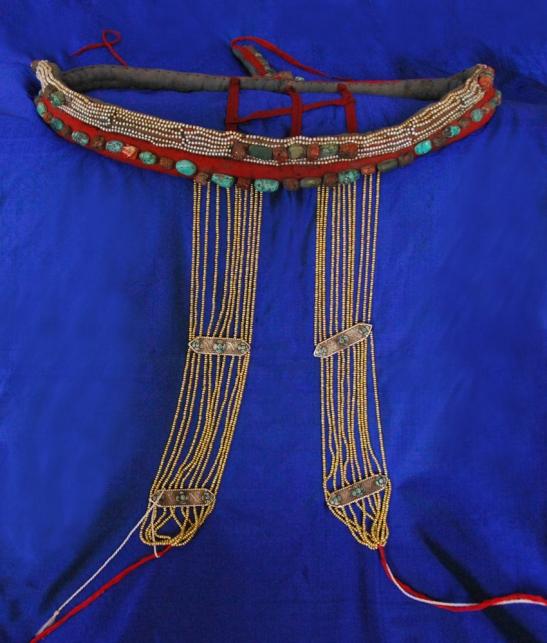 Headdress from Xigatse, Tibet, late 19th century