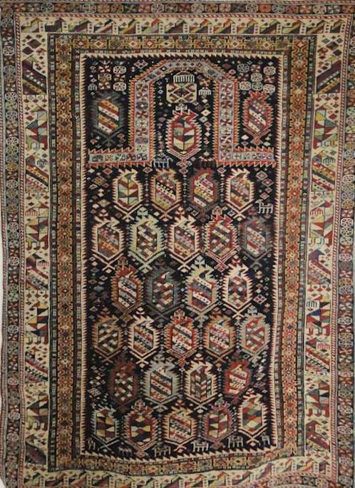 Antique Shirvan Prayer Rug-5
