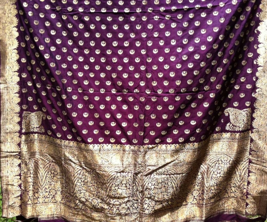 ANTIQUE BANARASI SARI WITH REAL ZARI