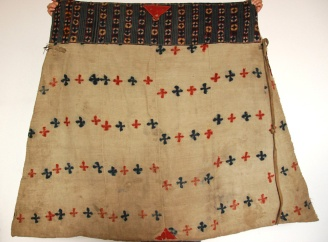 ANTIQUE TIBETAN HORSE BLANKET WITH NAMBU TIGMA WORK