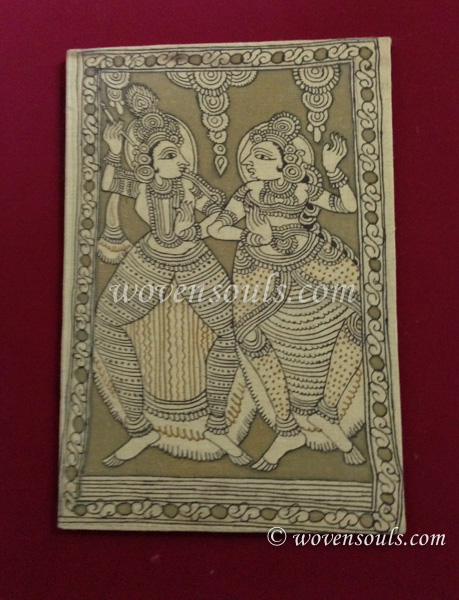 Wovensouls - Technique of Kalamkari art - Use of Mordant