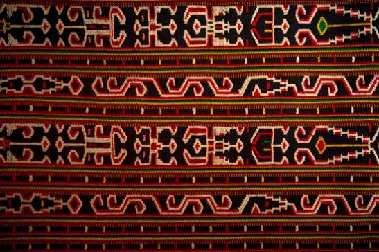 Vintage Sungkit weave tribal Dayak Bidang skirt