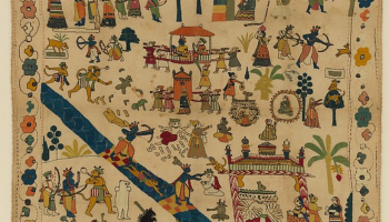 Daily Art Fix - Chamba Rumaal with Ramayana Scenes - MET museum collection