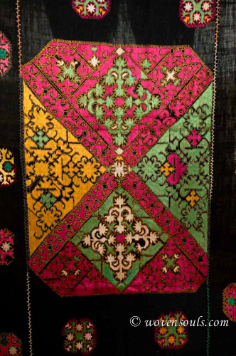 Antique Textile Silk Embroidery Phulkari