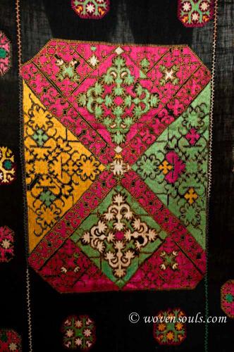 Antique Textile Silk Embroidery Phulkari