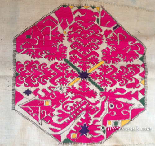Old SWAT SHAWL WITH OCTOGONAL MEDALLION
