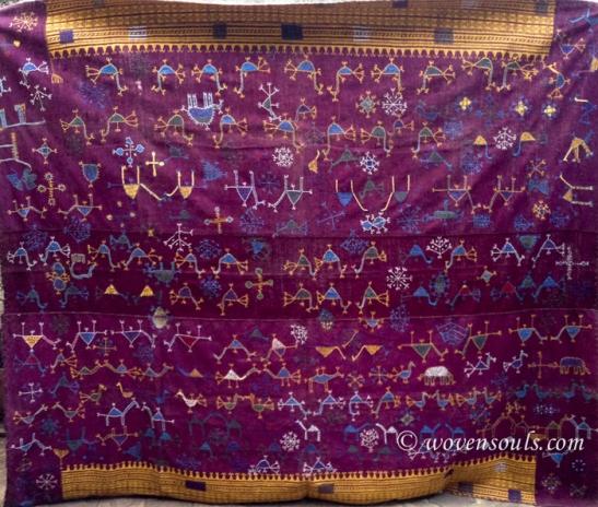 VTI-753 SHEKHWATI ODHANA SHAWL TEXTILE RAJASTHAN 30