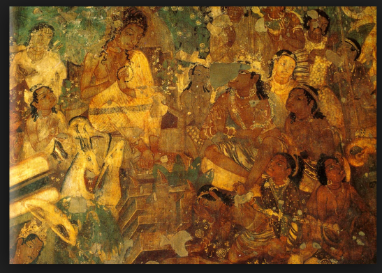 External article ajanta cave murals the art blog by for Ajanta mural painting