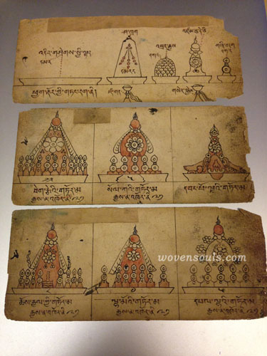 ANTIQUE MONGOLIAN MANUSCRIPT DRAWING WAX ART DESIGN