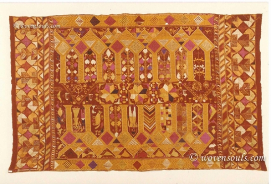 ANTIQUE PUNJAB TEXTILE DARSHAN DWAR PHULKARI BAGH EMBROIDERY INDIA
