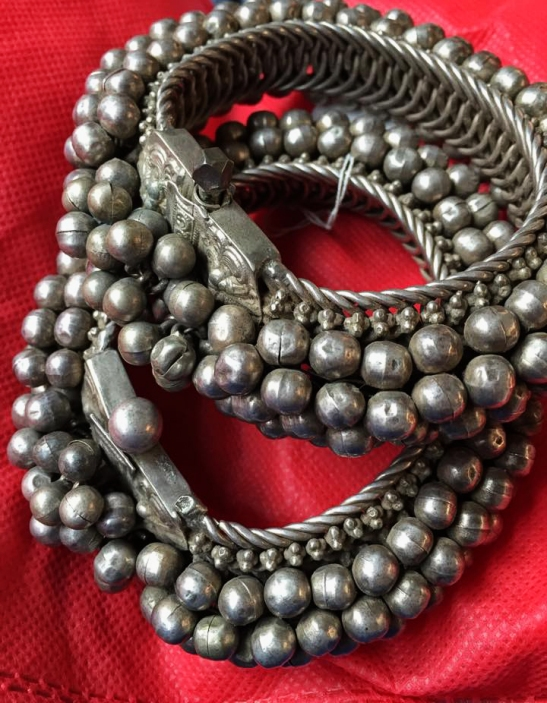 ANTIQUE SILVER PAYAL ANKLETS JEWELRY