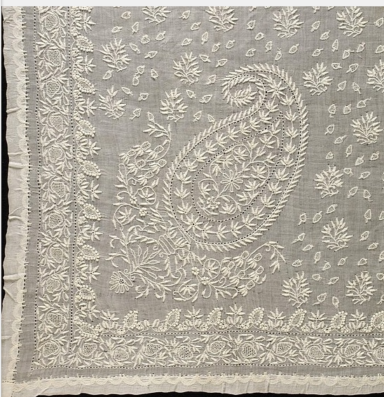 The Superfine Embroidery Of Awadh Chikan Kari The Art Blog By