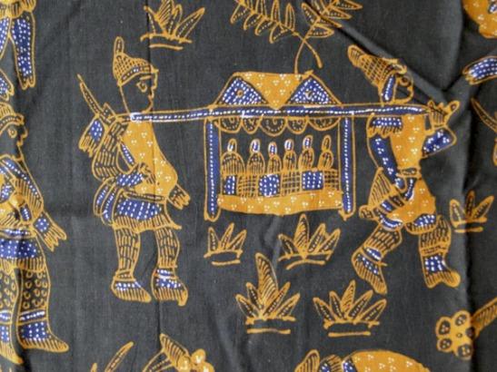 Vintage Java Batik figurative textile-29