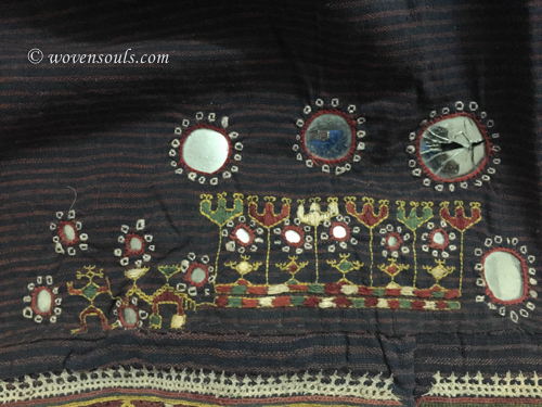 antique bishnoi hand woven hand embroidery skirt textile rajasthan
