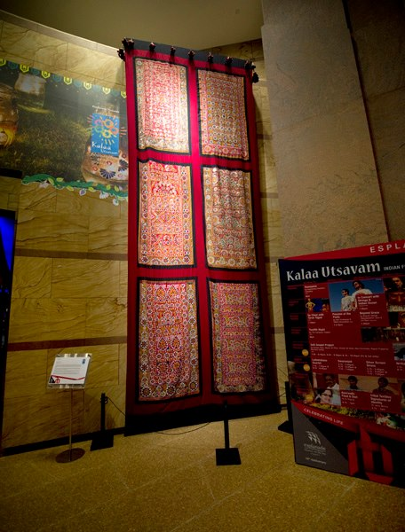 """""""MIRRORS OF IDENTITY"""" Textile Artwork commissioned by Esplanade Theatres, Singapore"""