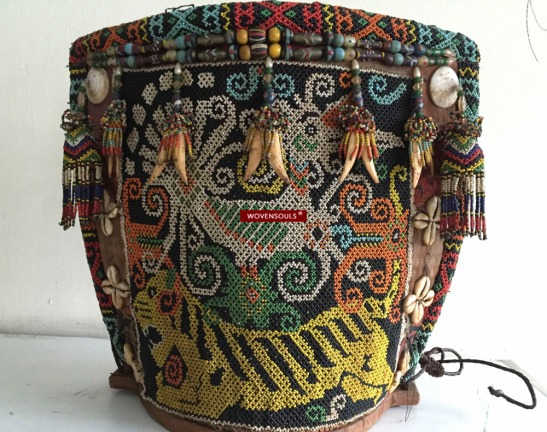 Antique Beaded Dayak Kalimantan Baby Carrier
