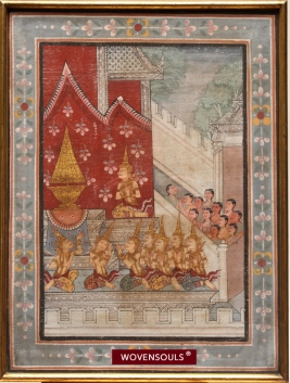 AFP-1012 ANTIQUE THAI AYUTTHAYA PAINTING