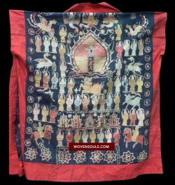 yao shaman's robe with FISH motif