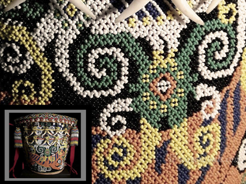 Beaded Dayak Baby Carrier from Borneo