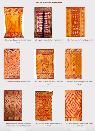 spotlight on exceptional antique phulkari bagh indian textiles