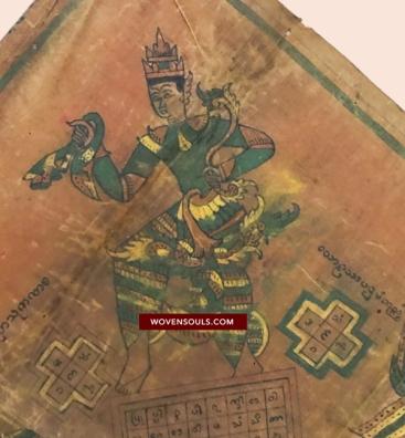 1042-antique-myanmar-mandala-spirit-cloth-painting-art-wovensouls-antique-textile-art-29pp