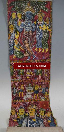 Antique Cheriyal Painting Scroll