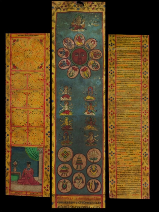 antique astrological calendar birth chart janam patri kundali