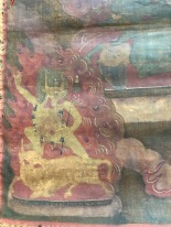 Antique Buddhist Monastery Thangka from Mongolia or Tibet pre 17th century or earli