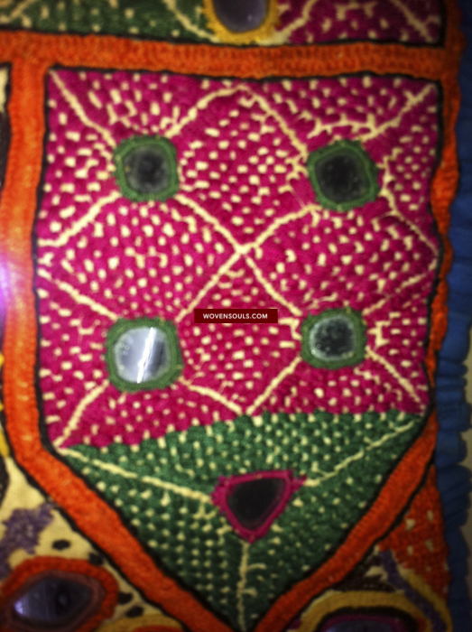 VIntage antique Tribal Kutch Mirrorwork Embroidery