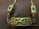 antique indian goan malachite jewelry
