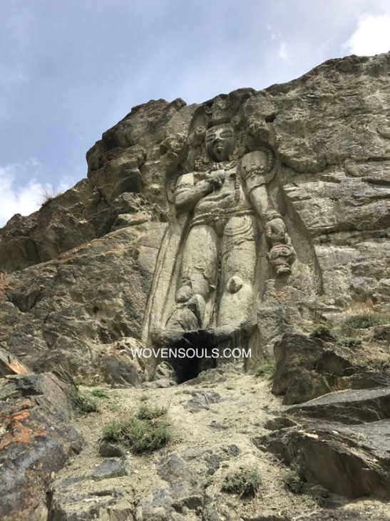 Ancient Buddhist Art Himalayan Buddga Rock Carving Ladakh