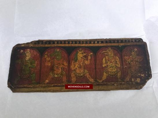 Ancient Painted Buddhist Manuscript Folios - Tibet