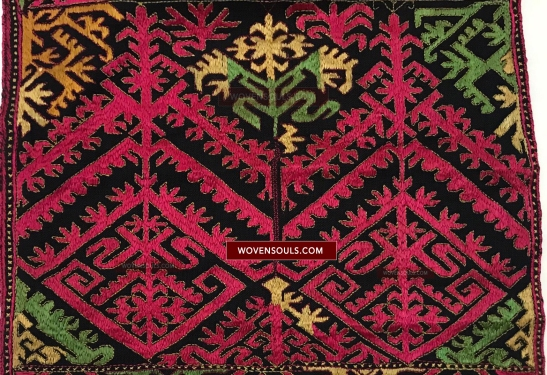 1351 Antique Kohistan Embroidery Textile Panel Masterpiece